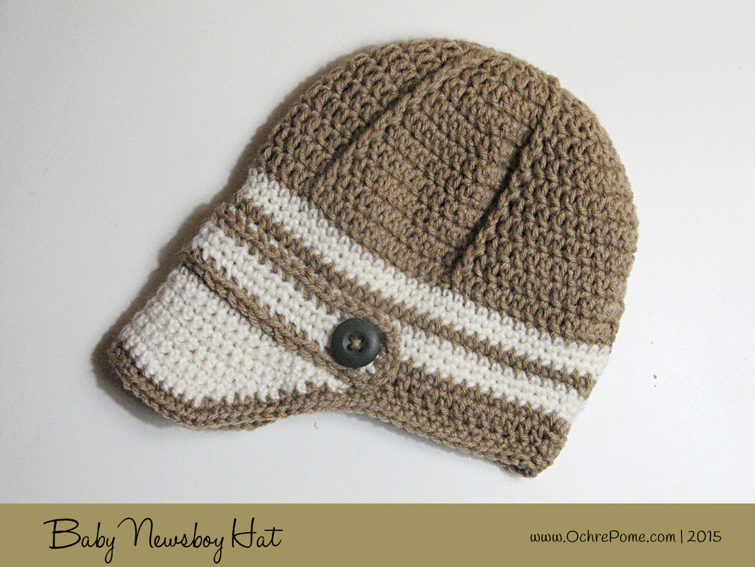 Free Baby Bunting Patterns To Crochet : Baby Newsboy Hat - Ochre Pome: Modern Crochet